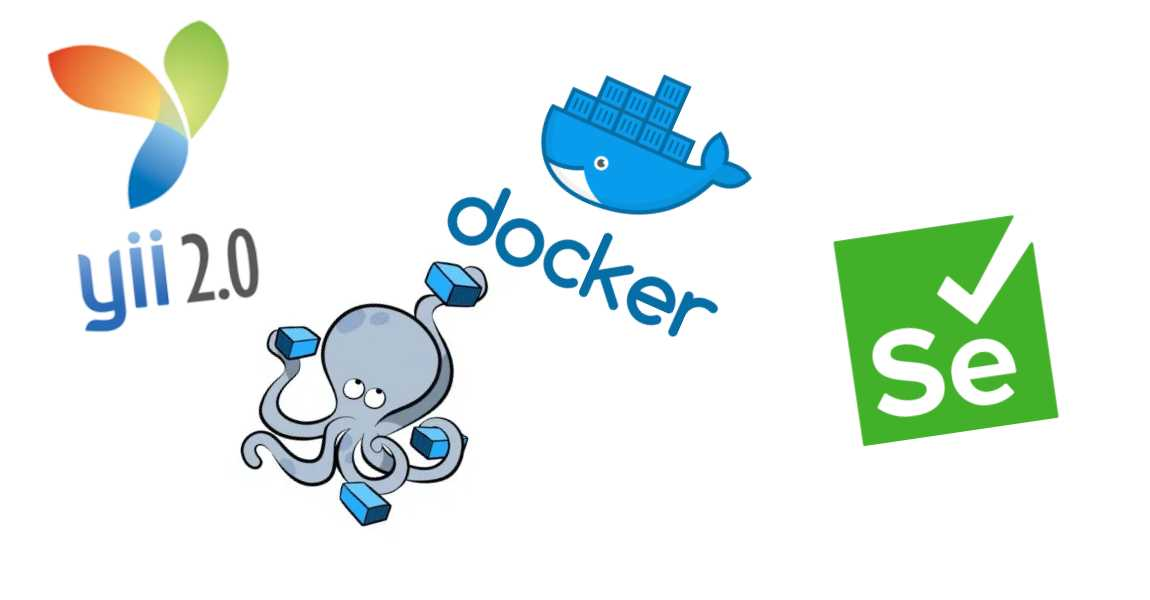 Add selenium acceptance tests to codeception with yii2 on docker-compose setup to run seamlessly with test settings